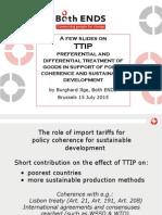 slides of Both ENDS' presentation at the TTIP stakeholder event 15 July 2015