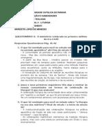 Questinário II - Marizete Lopes