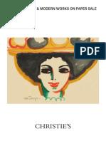 Impressionist & Modern Works On Paper Sale