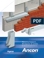 Ancon Masonry Support, Windposts & Lintels