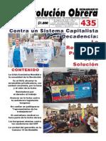 Semanario Revolución Obrera Edición No. 435