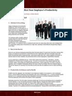 Improving Employees Productivity