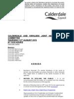 Calderdale & Kirklees Joint Health Scrutiny CommitteeAgenda 13.08.15