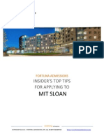 Fortuna - Admissions Insider's Top Tips MIT Sloan 2015