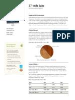 27inch IMac Product Environmental Report
