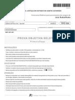 Prova A01 Tipo 004 TJSC 2014