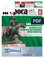 Nº 683 - Especial Estatutos Autonómicos Santa Cruz+ entrevista a Ramiro Lizondo - Agosto 2015