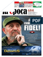 Nº 684 - Especial Cumpleaños 89 de Fidel - Agosto 2015
