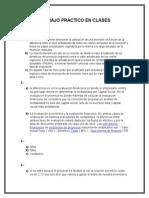 TRABAJO PRACTICO en CLASES de Formulacion y Evaluacion