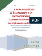 Cuadernillo Atención Curso 2012-2013