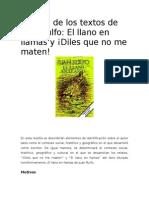 Reseña de Los Textos de Juan Rulfo