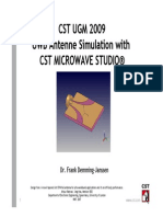 4 1 2 Uwb Antenne Simulation With Cst Microwave Studio