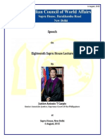 Eigtheenth Sapru House Lecture