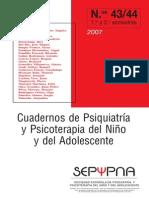 Cuadernos de Psiquiatria y Psicoterapia Del Niño y Del Adolescente 43 44 de 2007 - Varios Autores