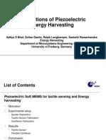 Applications of Piezoelectric Energy Harvesting