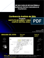 Conferencia Analisis de Sitio Fotografias USAC