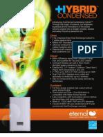Eternal GU 145-195 On-Demand Hybrid Condensing Gas Fired Water Heaters Brochure