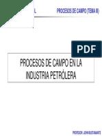 Procesos de Campo Tema III