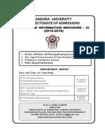 AUCET 2015 Evening Courses Information Brochure 2015