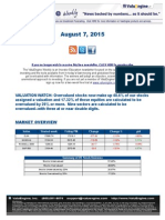 ValuEngine Weekly Newsletter August 7, 2015