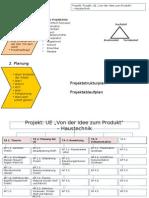 Projektplanung UE Idee Produkt Haustechnik