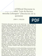 "Wilcox. ""The Retoric of Bifocal Discourse in Luis Cernuda's.."