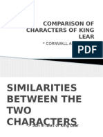 Comparison of Characters of King Lear