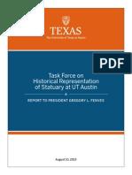 Task Force on Historical Representation of Statuary at UT Austin - Report