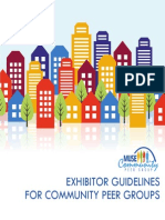 Exhibitor Guide for Community Peer Groups