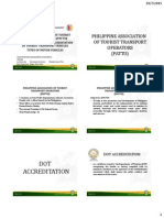Dot Accreditation Requirements of Land, Water & Air Transport in the Philippines, Patto and Types of Land Transport Vehicles