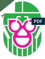 Máscara recortable - Lucha por la Ciudad Humana - #HazLaLucha