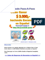 Lista Empresas Encuestas Espanol Descarga Gratis PDF