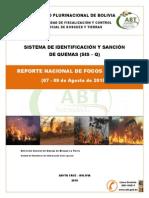Informe 2015 sobre focos de calor en Bolivia