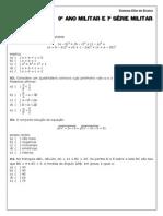 Simulado 9ano 1serie Militar Matematica