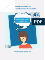 Organizaciones Políticas y Requisitos para Inscripción de Candidatos