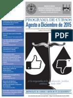 Programa E.J.C. Interamericana, Facultad de Derecho (Ago.-Dic. 2015)