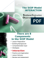 The SIOP Model Interaction