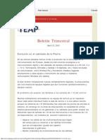 Evolución en El Cableado de La Planta - Boletín Trimestral