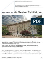 Jim Lee EPA Speech Flight Pollution 08-11-2015 Climate Viewer News