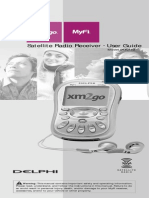 Delphi MyFi XM2GO Portable XM Satellite Radio Manual
