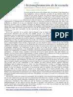 La Tecnologia y La Transformacion de La Escuela (Dossier)