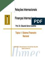 Aula 1 - Finanças Internacionais