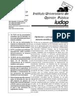 Opiniones y Percepciones Hacia La Minería Metálica en ESA IUDOP