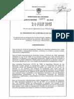 Decreto 303 Del 20 de Febrero de 2015