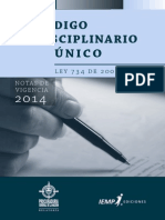 Codigo Disciplinario Unico Con Notas de Vigencia 2014