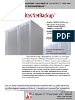 Veritas NetBackup benchmark comparison
