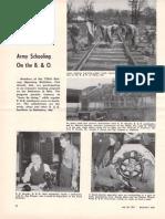 Army Schooling on the B.& O.railroad