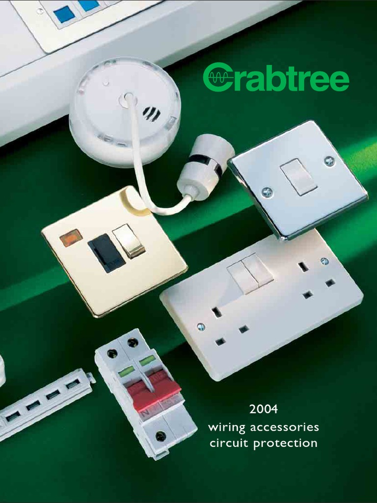 Crabtree 4460 Grid Switch 20a DP with various markings