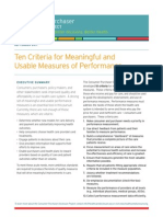 CP Alliance 10 Measure Criteria