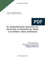 REL El Comportamiento Discursivo en Denuncias a Noticiarios Por Faltas a La Calidad y Ética Profesional Daniel Hernández